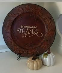 55 best thanksgiving images on charger plates plate