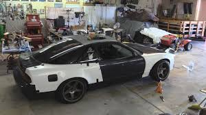 nissan 240sx widebody 1jz 240sx gets wide body youtube