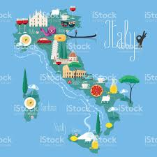 Map Of Italy by Map Of Italy Vector Illustration Design Icons Stock Vector Art