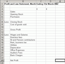 Monthly Profit And Loss Statement Template by 10 Profit And Loss Templates Excel Templates