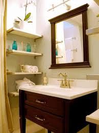 transparent glass shower door wooden sink cabinet white porcelain