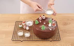 chocolate christmas cake recipe bake with stork