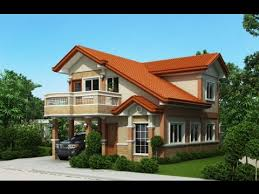 two story home design with balcony youtube