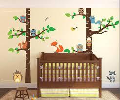 Vinyl Wall Decals For Nursery Forest Nursery Wall Decals Birch Tree Forest Set Vinyl Wall