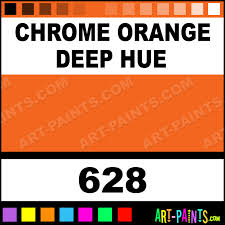chrome orange deep hue artist oil paints 628 chrome orange