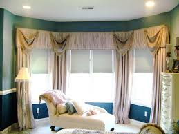 valence curtains on a bay window with sliding glass door google