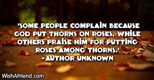 some complain because god inspirational thanksgiving quote