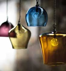 Colored Glass Pendant Lights Romantic Interior Decorating With Handmade Colored Glass Lighting