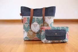 pattern for tote bag with zipper caravan tote pouch pdf pattern noodlehead