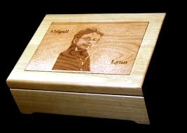 personalized wooden jewelry box made custom laser engraved wood jewelry box with wood inlay