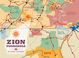 map of zion national park directions to zion ponderosa ranch resort zion ponderosa