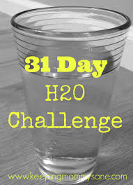 Challenge With Water 31 Day Drink More Water Challenge