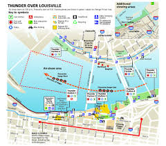 Louisville Map Thunder Over Louisville