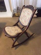 Folding Rocking Chair Early 1900 U0027s Antique Folding Wood Rocking Chair Nice Rocking