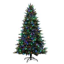 artificial christmas tree with lights 7 5 ft pre lit englewood pine artificial christmas tree with color