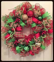 country christmas burlap deco mesh wreath christmas