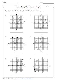 transformation of quadratic function worksheets