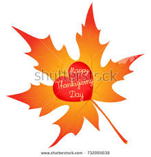 thanksgiving thanksgiving day card template leaves stock vector