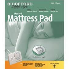 biddeford electric heated mattress pad 100 polyester queen heated