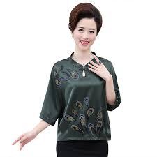 purple silk blouse waeolsa style vintage silk blouse purple green satin
