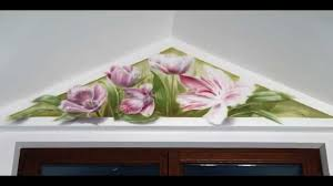 hand painted floral design in airbrush technique youtube