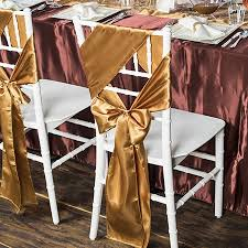 wedding chair sash gold satin wedding chair sash 5 pk smarty had a party