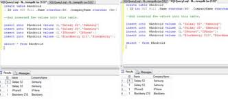 how to create temp table in sql local and global temporary tables in sql server 2008