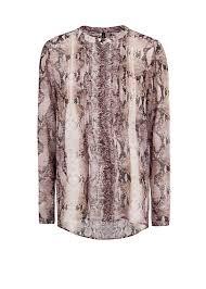 snake print blouse lyst mango snake print chiffon blouse in