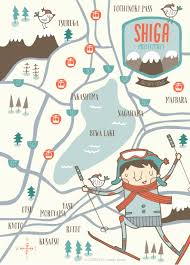 Ski Resorts In Colorado Map by Shiga Prefecture Ski Resorts Map Nicole Larue Illustration