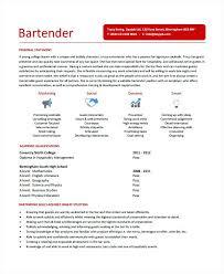 best bartender resume sample bartender resume sample bartender