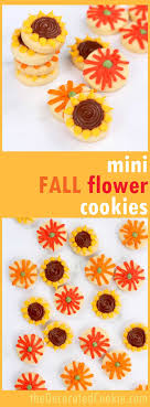 mini fall flower cookies simple decorated cookies for fall