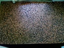 Bathroom Floor Pennies Reno210 A Penny Saved Is A Tile Floor