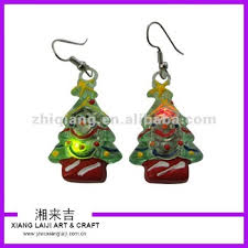 light up christmas earrings christmas tree led flashing earrings buy novelty christmas