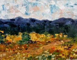 Impressionist Landscape Painting by Palette Knife Flower Landscape Painting Grassland Flower By
