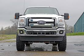f250 led light bar rou 70535 rough country 11 15 ford f250 f350 2 cree led fog light kit
