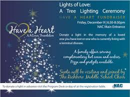 a foundation lights of a tree lighting ceremony