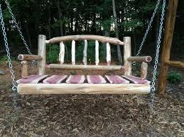 3 1 2 u0027 rustic log swing rustic porch swing wood porch swing