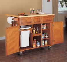 solid wood kitchen island cart kitchen interesting kitchen cart with trash bin kitchen cart