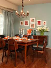 Custom  Orange Dining Room Decoration Design Inspiration Of - Dining room wall paint ideas