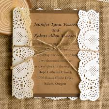 lace wedding invitations classic rustic lace square wedding invitations ewls009 as low as