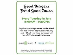 Barnes And Noble Bridgewater Nj Jul 25 Shake Shack Fundraising For Visions And Pathways
