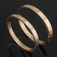 titanium bangle bracelet images Wholesale classic 18k color gold bangles hot selling of male and jpg