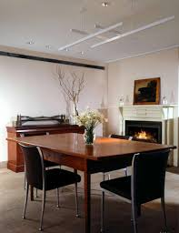 luxury kitchen dining room interior design with ventless fireplace