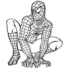 printable spiderman pictures kids coloring