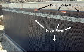 Rubber Basement Sealer - superseal dimpled membrane the best basement waterproofing method