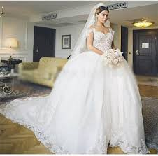 off shoulder ball gown wedding dresses 2015 real image court train