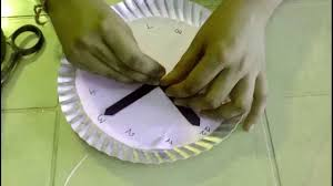 how to make an simple paper plate clocks for kids easy youtube