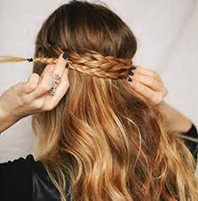 hair braid across back of head diy braided crown chelsea crockett