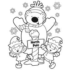 north pole coloring pin