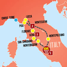 Pisa Italy Map by Tour Of Italy Tuscany Holiday Packages U2013 Expat Explore Travel